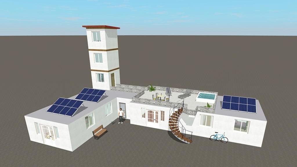 I dagsläget är huset 70 kvadratmeter men bygglovet ligger på det dubbla.