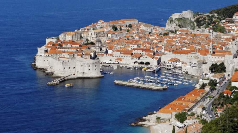 Dubrovniks vackra stadskärna.