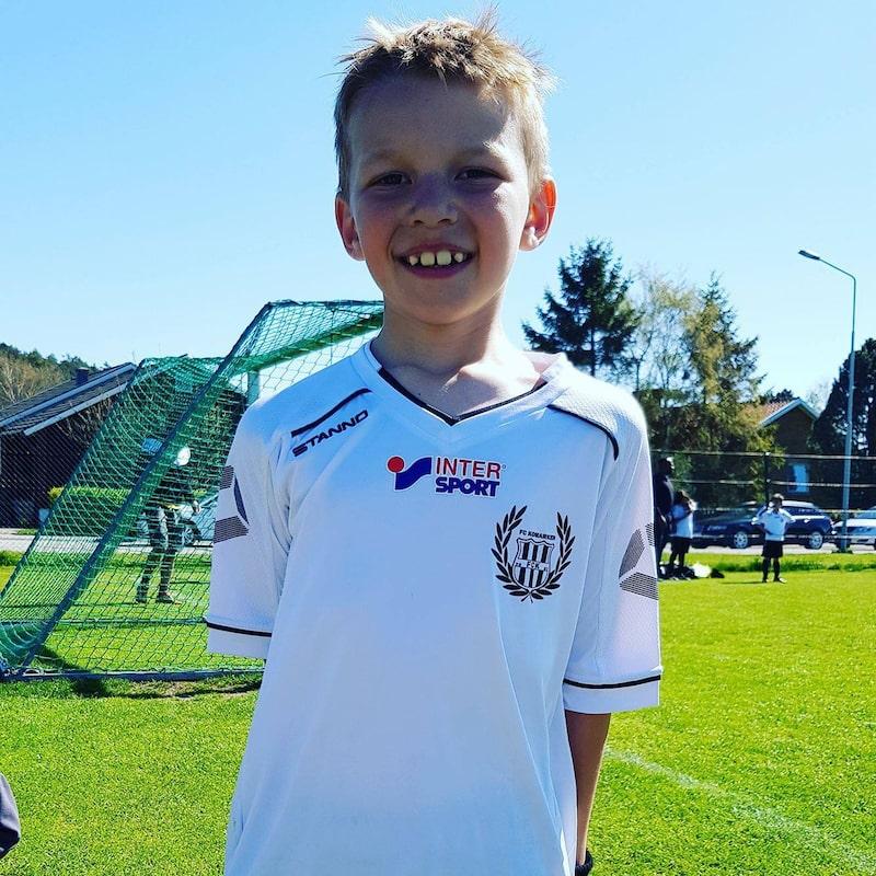 Leo Nilsson, 8, från Kungälv har uppfunnit sin egen Fidget SPinner.