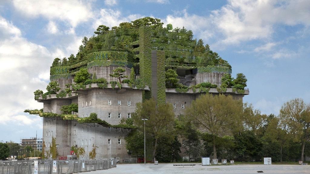 Så här ska det nya bunkerhotellet se ut.