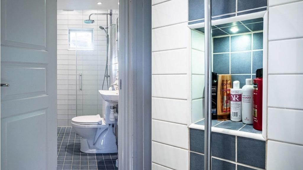 Det ena badrummet är renoverat.