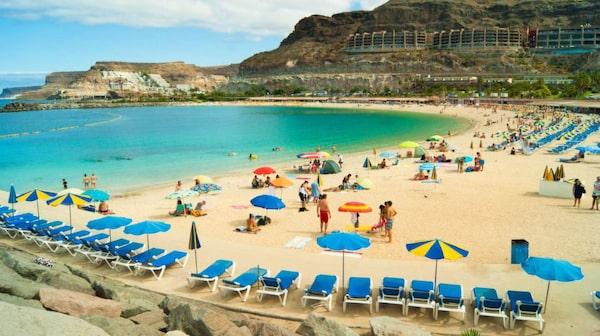 Playa de Amadores på Gran Canaria.