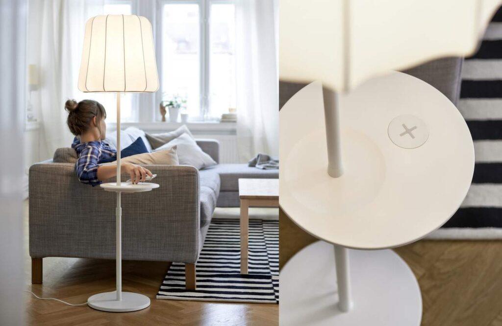 I april släpper Ikea sin nya kollektion av möbler som har integrerad trådlös laddning till smarta telefoner.