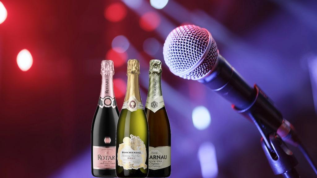 Gunilla Hultgren Karell tipsar om mousserande viner som passar perfekt till både soffhäng och mingel med årets upplaga av melodifestivalen.