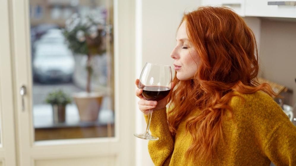 Hjälper det med ett glas vin för att koppla av?