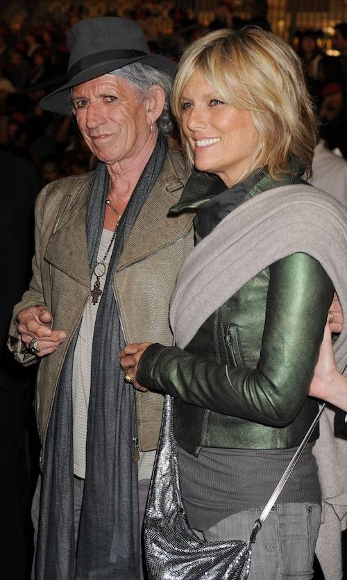 """Keith Richards med sin fru Patti Hansen anländer till galapremiären av """"Pirates of caribbean"""" 2011."""