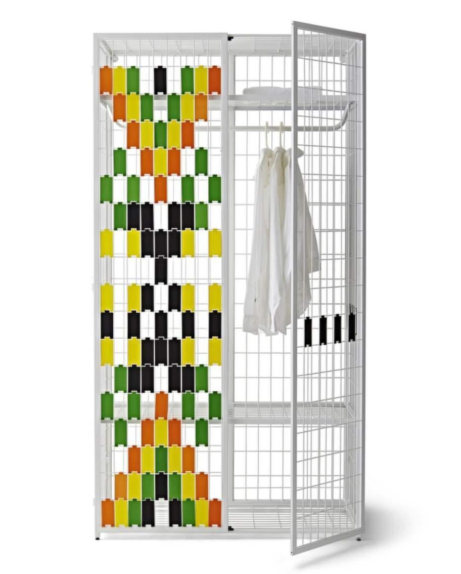 Flyttbar garderob som du smyckar med plattor i olika färger, Från Ikea PS 2014, 1 295 kronor.