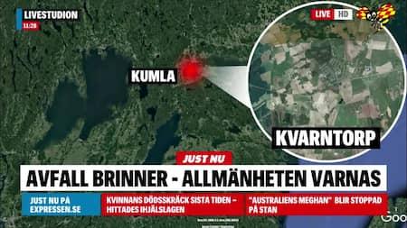 44442c05982 Kumla: Brand i avfallsanläggning i Örebro län – VMA utfärdat