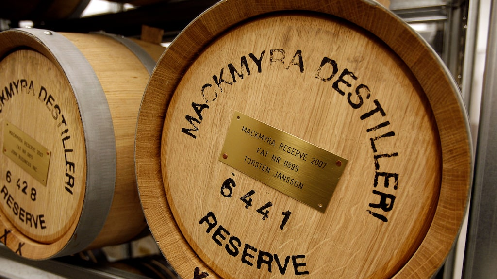 Mackmyra Svensk Whisky, sedan 1999.
