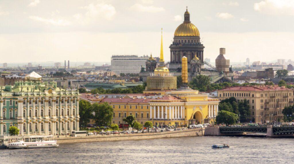 <p>Billigast är Sankt Petersburg i Ryssland.</p>