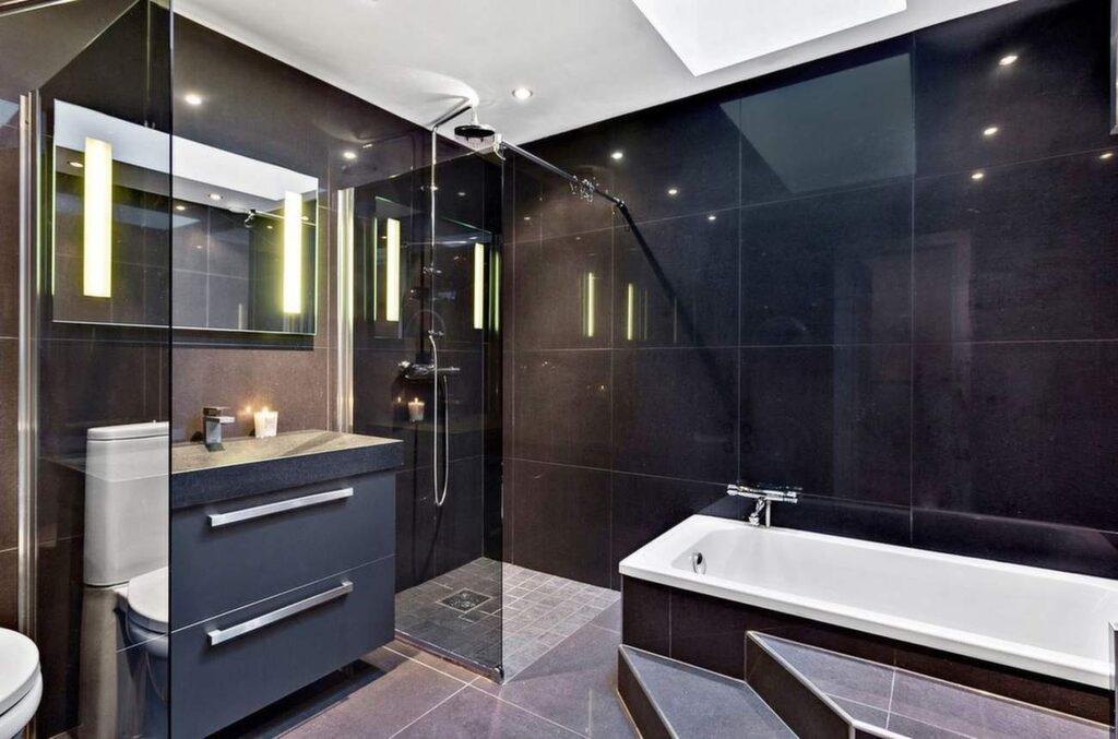 Badrummet är exklusivt.