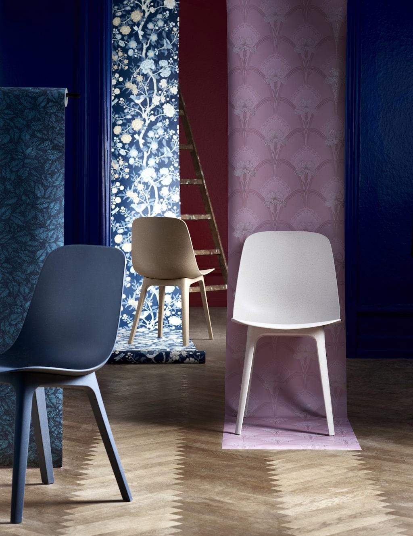Stolen ODGER är tillverkad av förnybart trä och återvunnen plast och monteras med bara ett klick - utan verktyg.